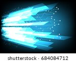 vector technology design with... | Shutterstock .eps vector #684084712