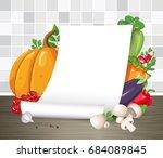 vector mock up. paper poster or ... | Shutterstock .eps vector #684089845