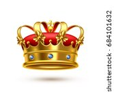 royal ceremonial gold crown... | Shutterstock .eps vector #684101632