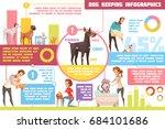 pet dogs feeding upbringing... | Shutterstock .eps vector #684101686