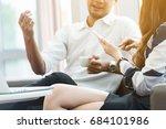 close up hands of a business...   Shutterstock . vector #684101986