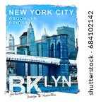 photo print brooklyn   bridge...   Shutterstock . vector #684102142