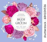 vintage wedding invitation | Shutterstock .eps vector #684104536