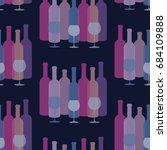 seamless pattern with bottles... | Shutterstock .eps vector #684109888