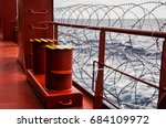 barbed wire as anti piracy... | Shutterstock . vector #684109972