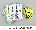 think outside the box ...   Shutterstock . vector #684112855