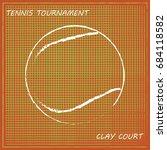 tennis background  vector | Shutterstock .eps vector #684118582