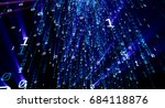 colored bytes of binary code... | Shutterstock . vector #684118876