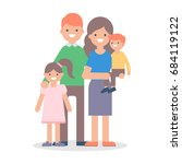 family vector illustration | Shutterstock .eps vector #684119122