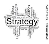 strategy word cloud | Shutterstock .eps vector #684119392