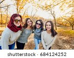resting in autumn park | Shutterstock . vector #684124252