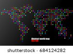 abstract colorful world map of...