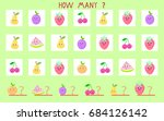 puzzle game calculate fruit...   Shutterstock .eps vector #684126142