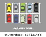 illustration of a parking zone... | Shutterstock .eps vector #684131455