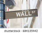 Wall Street Sign With Street...