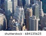 new york city skyline aerial... | Shutterstock . vector #684135625