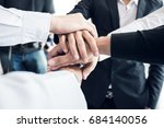 business teamwork. business man ... | Shutterstock . vector #684140056