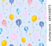 seamless pattern with... | Shutterstock . vector #684140875