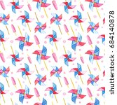 seamless pattern with... | Shutterstock . vector #684140878