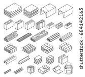 construction materials set.... | Shutterstock .eps vector #684142165