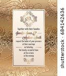vintage baroque style wedding... | Shutterstock .eps vector #684142636