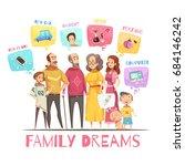 family dreaming design concept...   Shutterstock .eps vector #684146242