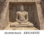 unfinished seated buddha in... | Shutterstock . vector #684146935