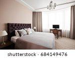 hotel apartment  bedroom... | Shutterstock . vector #684149476