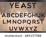 yeast font | Shutterstock .eps vector #684157588