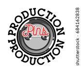 color vintage pins production...   Shutterstock . vector #684162838