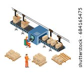 automated factory assembly line ... | Shutterstock .eps vector #684165475