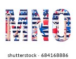 vector alphabet set. retro... | Shutterstock .eps vector #684168886