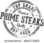 prime steaks vintage menu... | Shutterstock .eps vector #684171862