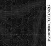topographic map background... | Shutterstock .eps vector #684173362