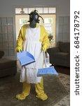 mature woman in yellow haz mat... | Shutterstock . vector #684178792