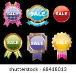 set of sale stickers on a... | Shutterstock .eps vector #68418013
