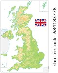 united kingdom blank physical... | Shutterstock .eps vector #684183778