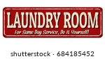 laundry room funny vintage... | Shutterstock .eps vector #684185452