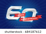60 years anniversary background ... | Shutterstock .eps vector #684187612