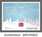 presentation layout design... | Shutterstock .eps vector #684190822
