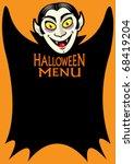 Halloween Dracula's Menu - stock vector