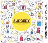 doctors making surgery vector... | Shutterstock .eps vector #684192226