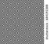 seamless pattern with black... | Shutterstock .eps vector #684192388