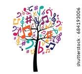 Vector Illustration Of Tree...