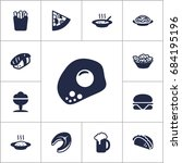 set of 13 eat icons set... | Shutterstock .eps vector #684195196