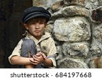 handsome 5 year old  chimney... | Shutterstock . vector #684197668