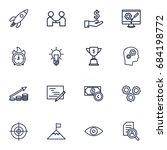 set of 16 strategy outline... | Shutterstock .eps vector #684198772