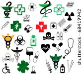 collection  of vector medical... | Shutterstock .eps vector #68419942