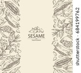 background with sesame  sesame... | Shutterstock .eps vector #684199762