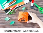 create a gift box of halloween... | Shutterstock . vector #684200266